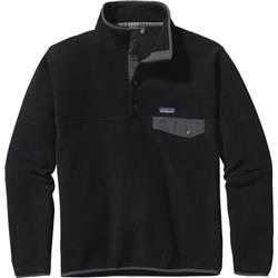 Patagonia Lightweight Synchilla Snap-T Pullover - Mens-Black w/Forge Grey