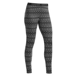 Icebreaker Vertex Leggings - Bodyfit 260 Midweight - Womens-Jet Heather / Black / Snow
