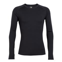 Icebreaker Zone LS Crewe - Mens-Black / Monsoon