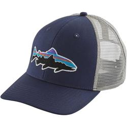 Patagonia Fitz Roy Trout Trucker Hat-Classic Navy w/Drifter Grey