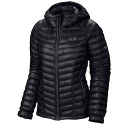 Mountain Hardwear Ghost Whisperer Down Hooded Jacket - Womens-Black