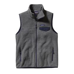 Patagonia Lightweight Synchilla Snap-T Vest - Mens-Nickel w/Navy Blue