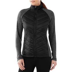 Smartwool Propulsion 60 Jacket - Womens-Black / Light Gray