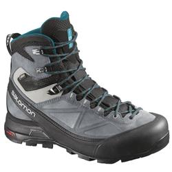 Salomon X Alp Mtn GTX - Black / Grey / Blue - Womens-Not Applicable