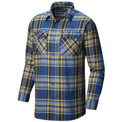 Mountain Hardwear Trekkin Flannel LS Shirt - Mens-Altitude Blue