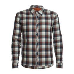 Icebreaker Helix LS Shirt - Mens-Copper / saddle plaid