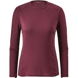 Patagonia Capilene Thermal Weight Crew - Womens-Arrow Red - Dark Currant X-Dye