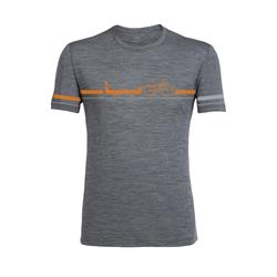 Icebreaker Tech Lite SS Crewe - Road to River - Mens-Gritstone Heather