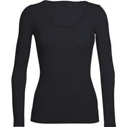 Icebreaker Siren LS Sweetheart - Womens-Black