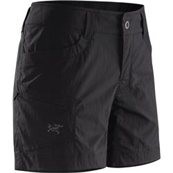 "Arcteryx Parapet Shorts, 5"" Inseam - Womens-Black"