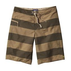 "Patagonia Printed Wavefarer Board Shorts, 21"" Inseam - Mens-Alisal Stripe / Ash Tan"