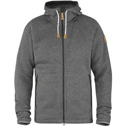 Fjallraven Ovik Fleece Hoodie - Mens-Dark Grey