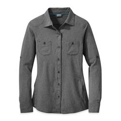 Outdoor Research Reflection LS Shirt - Womens-Charcoal