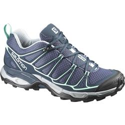 Salomon X Ultra Prime - Artist Grey-X / Deep Blue / Lucite Green - Womens-Not Applicable