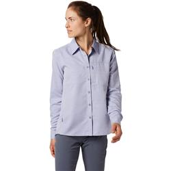 Mountain Hardwear Canyon LS Shirt - Womens-Blue Print