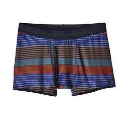 Patagonia Capilene Daily Boxer Briefs - Mens-Stripe of Stripes Small / Cusco Orange