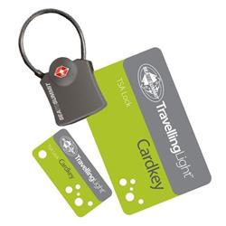 Sea To Summit Travelling Light TSA Travel Lock - Cardkey with Cable-Not Applicable
