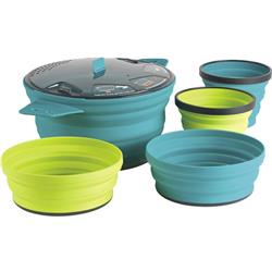 Sea To Summit X-Set 31 - 5 Piece - X-Pot - 2.8L & 2 X-Bowls & 2 X-Mugs-Pacific Blue