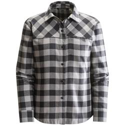 Black Diamond Spotter LS Shirt - Womens-Nickel / Black Gingham