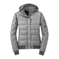 Outdoor Research Placid Down Jacket - Womens-Alloy