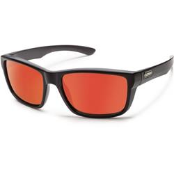 Suncloud Mayor, Matte Black Frame, Polarized Red Mirror Lens-Not Applicable