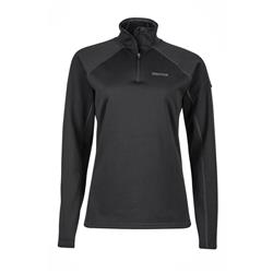 Marmot Stretch Fleece 1/2 Zip - Womens-Black