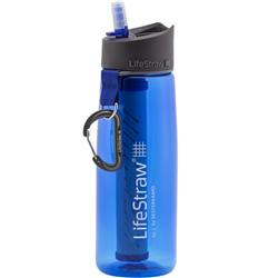 Life Straw LifeStraw Go Bottle with 2-Stage Filteration - Colored-Blue