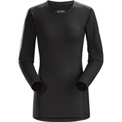 Arcteryx Phase AR Crew LS - Womens-Black