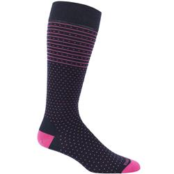 Icebreaker LifeStyle OTC Socks - Fine Gauge Ultralight Cushion - Amelia- Womens-Admiral / Pop Pink