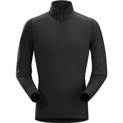 Arcteryx Phase AR Zip Neck LS - Mens-Black