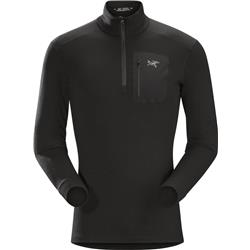 Arcteryx Satoro AR Zip Neck LS - Mens-Black