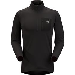 Arcteryx Rho LT Zip Neck - Mens-Black