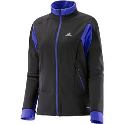 Salomon Momentum Softshell Jacket - Black / Phlox Violet - Womens-Not Applicable