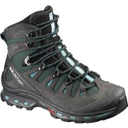 Salomon Quest 4D 2 GTX - Asphalt / Green Black / Haze Blue - Womens-Not Applicable