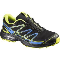Salomon Wings Flyte 2 GTX - Black / Bright Blue / Gecko Green - Mens-Not Applicable