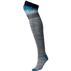 Smartwool Built Up Beehive Over-the-Knee Socks - Womens-Light Gray Heather