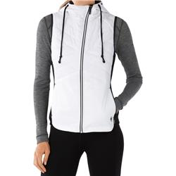 Smartwool Double Propulsion 60 Hooded Vest - Womens-Black / White