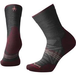 Smartwool PhD Outdoor Light Mid Crew Socks - Womens-Charcoal