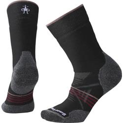 Smartwool PhD Outdoor Medium Crew Socks - Womens-Black / Tibetan Red
