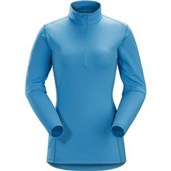 Arcteryx Phase AR Zip Neck LS - Womens-Baja