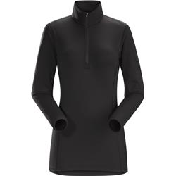Arcteryx Phase AR Zip Neck LS - Womens-Black