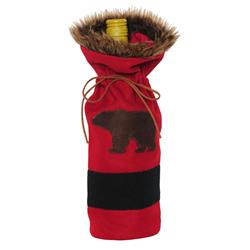 GSI Outdoors Outside / Inside Bottle Cover - Red with Black Bear-Not Applicable