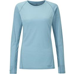 Rab Merino 120 LS Crew - Womens-Cool Grey