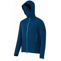 Mammut Base Jump SO Hooded Jacket - Mens-Orion