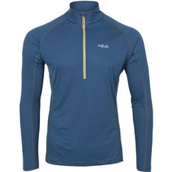 Rab Interval LS Zip Tee - Mens-Ink