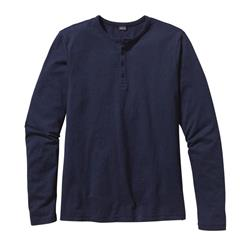 Patagonia Daily LS Henley - Mens-Navy Blue