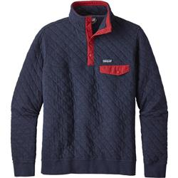 Patagonia Organic Cotton Quilt Snap-T Pullover - Mens-Navy Blue