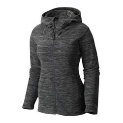 Mountain Hardwear Snowpass Fleece Full Zip Hoody - Womens (Prior Season)-Heather Black