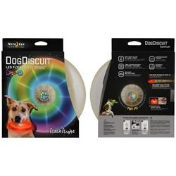 FlashFlight Dog Discuit LED Light-Up Flying Disc - Disc-O