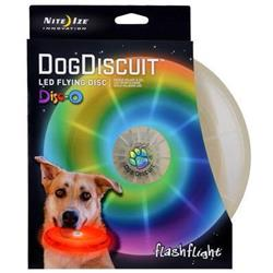 Nite-Ize FlashFlight Dog Discuit LED Light-Up Flying Disc - Disc-O-Not Applicable